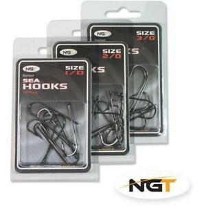 10-X-NGT-ABERDEEN-BARBED-SEA-FISHING-HOOKS-SALTWATER-FISHING-TACKLE