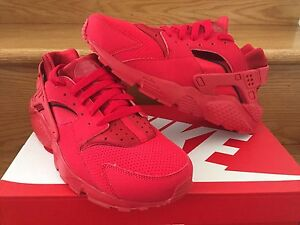 quality design 9dd6a 5505e Details about Nike Air Huarache Triple Red GS Sz PS TD 4C-7Y All October  Kid Women 654275-600
