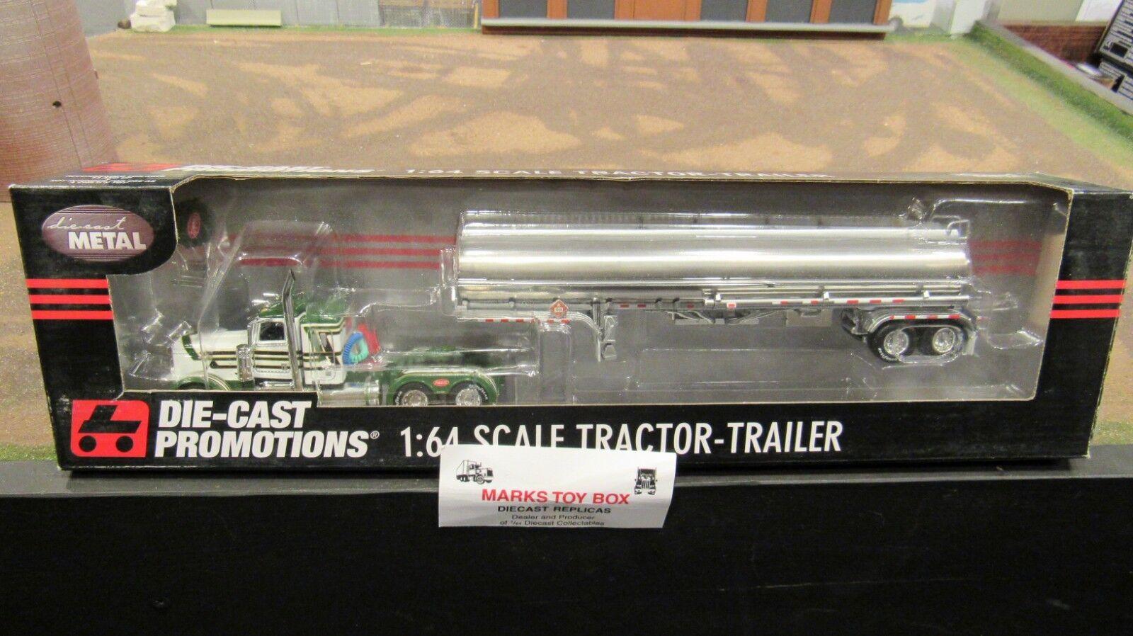 DCPpropietario operador Pete 379 Semi Cab Truck Gas Combustible Remolque cisterna 1 64 FC