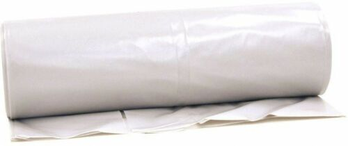 Clear Opaque 6 mil Plastic Sheeting Roll EXTRA HEAVY DUTY 12 ft x 100 ft White