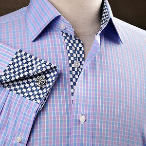 Mens Blue And White Striped Shirt