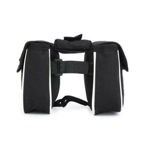 Bicycle Bike Front Frame Tube Handlebar Pannier Bag Double Pouch Phone Cycle Bag