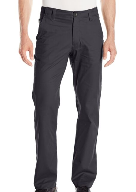 Under Armour Mens Pants Black Size 38X30 Comfort Flat Chinos Stretch $45- #685
