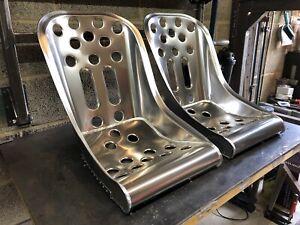 Aluminium-Bucket-Seat-Speedster-Bomber-Seat-x2-Hot-Rod-VW-Mini-Classic