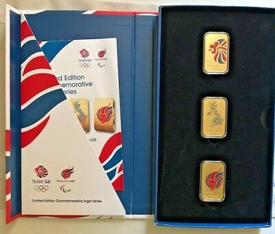 2012 London Olympics Team Gb Limited Edition Ingot No's 01054 01094 00137 00297 Sports Memorabilia