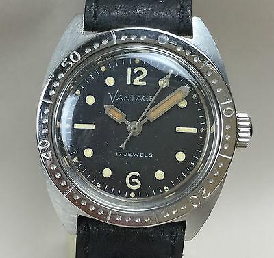 Vintage Vantage by Hamilton Watch co  Mid size Dive Diver Diving Watch