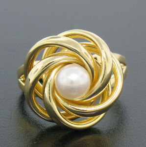 14k-Solid-Yellow-Gold-Open-Swirl-5-67mm-Natural-Cultured-Pearl-Solitaire-Ring