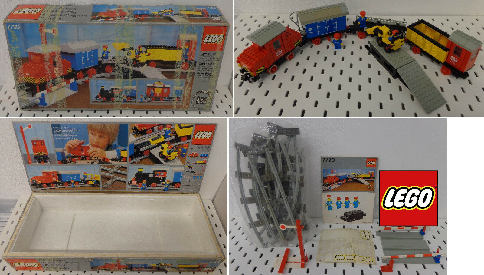 Lego Game Gioco LEGO Trains Treno 4.5 V 1980 Set 7720 - Diesel Freight Train -