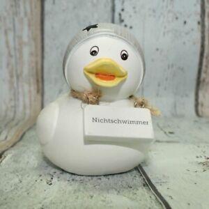 Boltze-Deko-Ente-Nichtschwimmer-Baddeko-Dekoration-maritim-Entchen-Neu