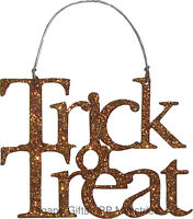 Pbk Halloween Decor - Tin Metal Miniature Ornament Trick Or Treat 8603