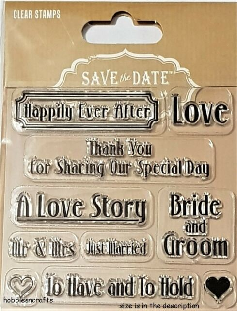 trimcraft save the date clear stationery stamps create your own