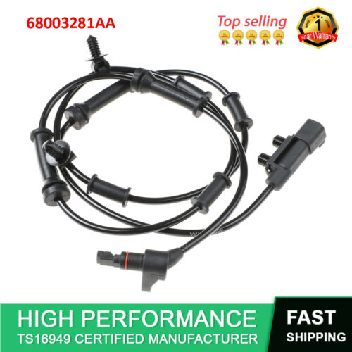 68003281AA 52060156AD New ABS Wheel Speed Sensor Front L//R Fit For Jeep Wrangler