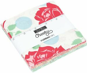 Cheeky-Moda-Charm-Pack-42-100-Cotton-5-034-Precut-Fabric-Quilt-Squares