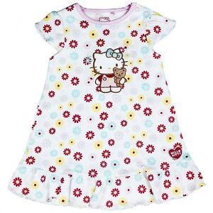 Detalles De Bebé Niña Vestido Estampado Floral De Hello Kitty Ver Título Original