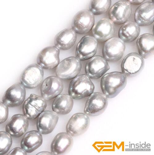 "10-11mm Freeform Cultured Freshwater Pearl Gemstone Jewelry Making Beads 15/"" YB"