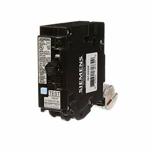 Siemens Q120df 20 Gfci Dual Function Circuit Breaker Plug On Load C