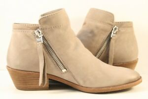 78e38c96e36fc Image is loading Sam-Edelman-Beige-Leather-Packer-Ankle-Booties-Womens-