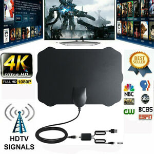 Indoor-Digital-TV-Antenna-Aerial-Signal-Amplified-Thin-HDTV-HD-Freeview-480-Mile