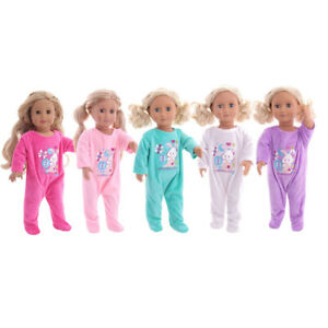 Hot-Handmade-Accessories18-034-Inch-American-Girl-Doll-Clothes-Cute-pajamas-set