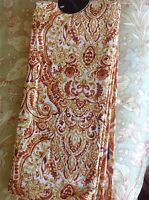 Cynthia Rowley Tea Towels (2) Gold Rust Paisley 100% Cotton