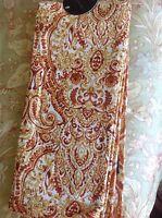 Cynthia Rowley Tea Towels (2) Gold Rust Paisley 100% Cotton