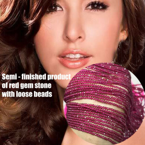 Creative Faceted Dark Red Ruby  Loose Beads Craft DIY Jewelry Making Decor Acc