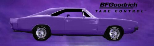 13oz Vinyl 3 Sizes Available REPRODUCTION BF GOODRICH PURPLE CHARGER BANNER