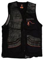 Browning Master-lite Leather Patch Vest Black