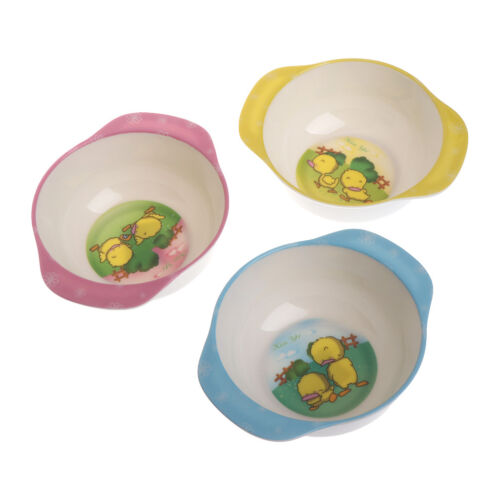 Baby Kids Feeding Learning Dishes Bowl Assist Toddler Food Dinnerware