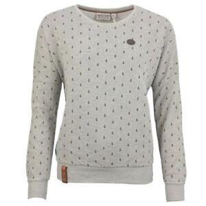 Naketano Women s Sweat Shirt Gray Anchor Pattern Jane Forensics 1042 ... 95864311c6