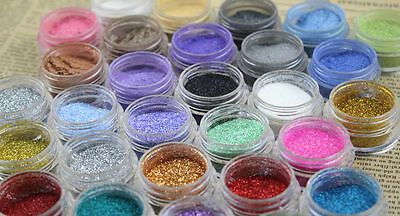 24 Loose GLITTER Eyeshadow Eye shadow Face Body Painting Paint Craft Nail Art