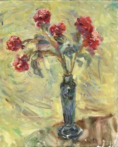 Russischer-Realist-Expressionist-Ol-Leinwand-034-Strauss-034-50-x-40-cm