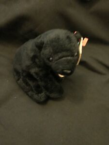 TY-Beanie-babies-Bear-Cinders-New-With-Labels