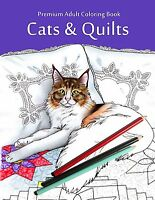 Premium Adult Coloring Book Art Relax Cute Cats Painting Picture Pattern Hobbies