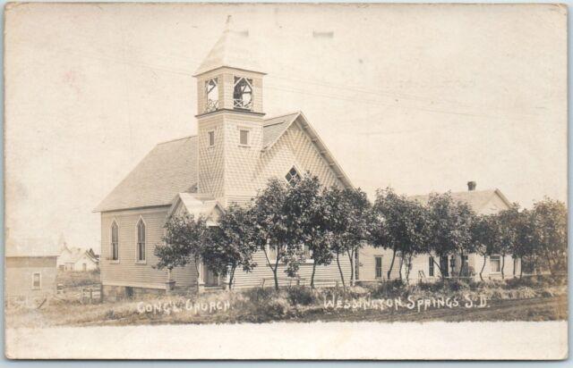 Wessington Springs, South Dakota Postcard CONGREGATIONAL CHURCH Building View