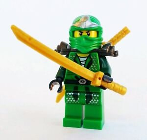 LEGO-Ninjago-Lloyd-ZX-with-Dual-Gold-Swords-Green-Ninja