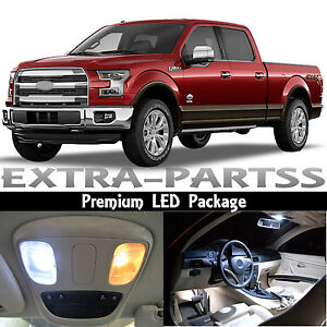 13x White Interior Led Lights Package Kit Dome Map For 2009 2014 Ford F 150 F150 Ebay