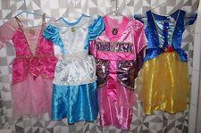GIRLS DISNEY PRINCESS DRESS UP COSTUME LOT SZ 4-6 AURORA MULAN ALICE BELLE ARIEL
