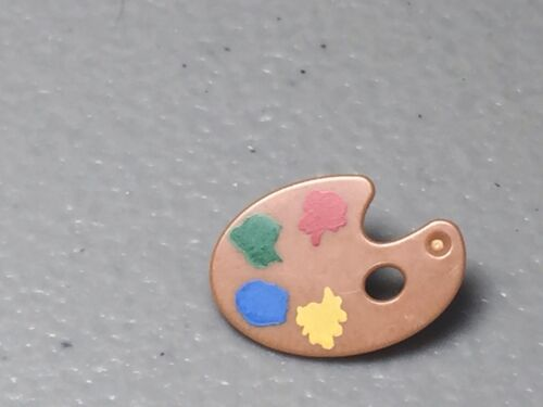 Blue LEGO Minifig Utensil Paint Palette w// Yellow Green /& Red Paint Spots NEW