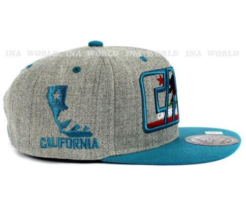 California Republic hat cap CALI Classic Bear Snapback Flat bill Baseball cap