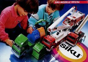 Siku-modelo-auto-catalogo-1993-1994-pequeno-folleto-catalogo-modelo-coches-Model-Cars
