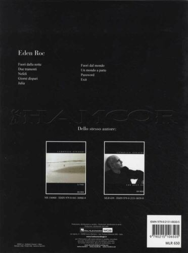 Ludovico Einaudi Eden Roc Piano Sheet Music Book Exit Julia Password Nefeli