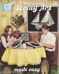 Dimensional-String-Art-Made-Easy-HA-20-Vintage-Instructions-Patterns-Book-NEW