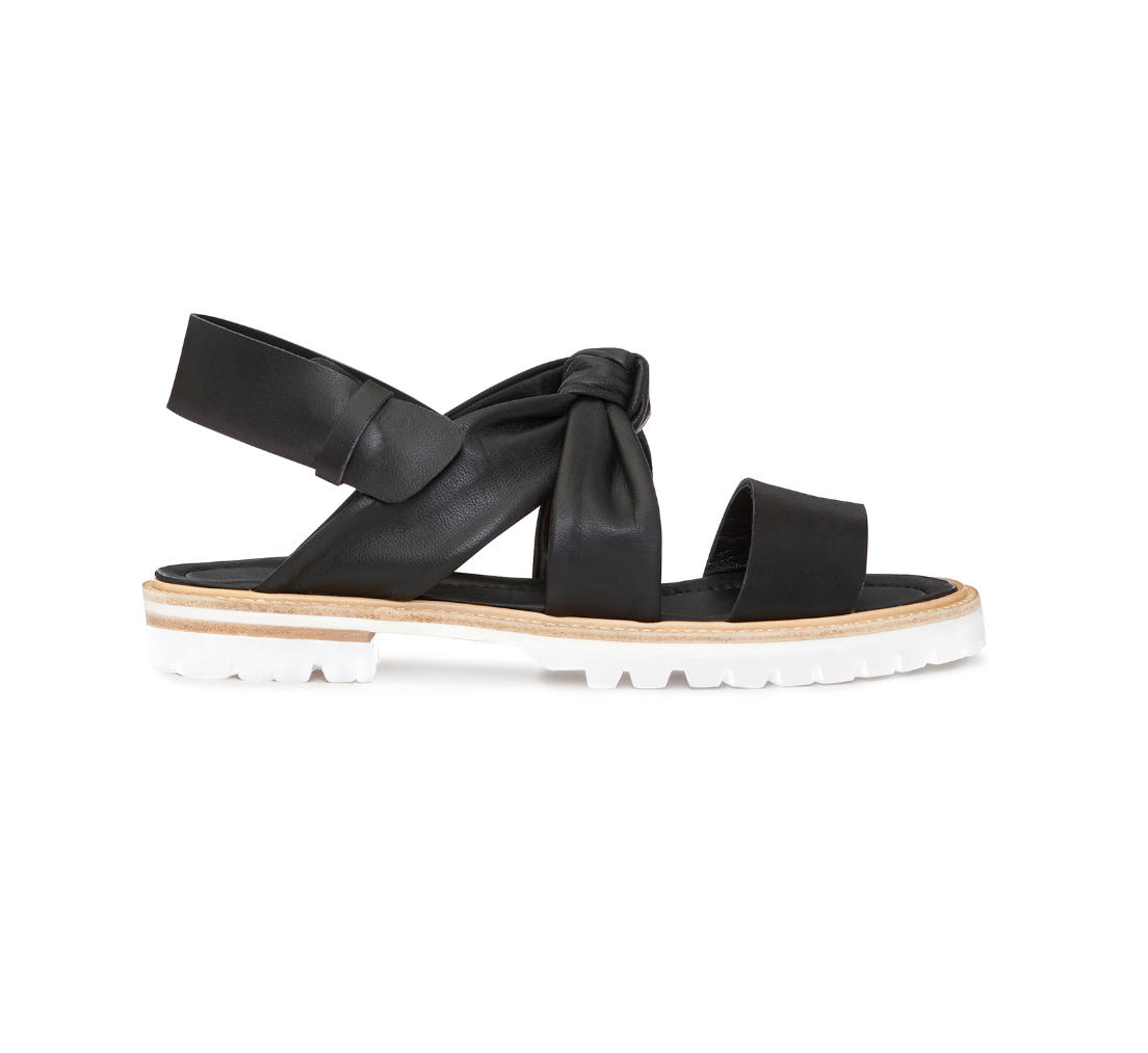 Whistles -- Tulsi Knotted Flat Sandal - New In Box - Black - Size 6 - Women's
