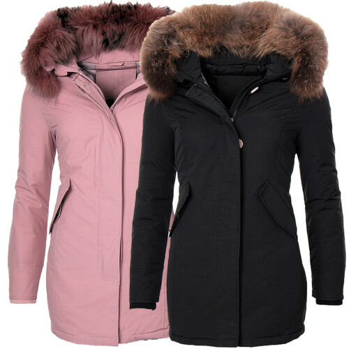 Giacca Donna Invernale Cappotto Parka Giacca XXL in vera pelliccia pelliccia Parka cappotto Anorak