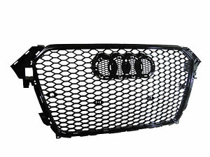 Rs4 Style Honeycomb Gloss Black Front Grille For Audi A4