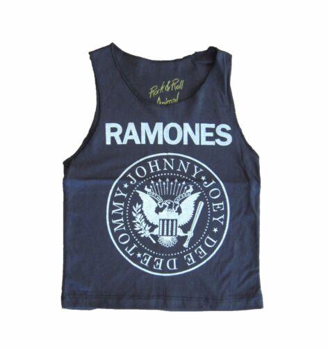 RAMONES KIDS SINGLET ROCK AND ROLL GIRLS BOYS PUNK ROCKER GRUNGE LOVE GIFT CUTE