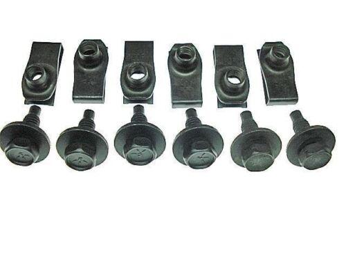 67 68 Ford Mustang front valance nut /& black bolt kit bolts nuts 12 pcs