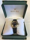 Rolex 14k Bubble Back model 3131 Black Dial 1946 Vintage Watch - Nice !
