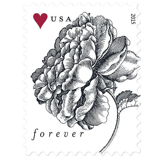2015 49c Vintage Rose, Universal Symbol of Love Scott 4